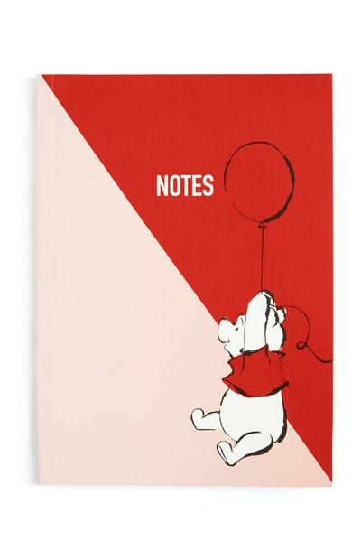 Winnie The Pooh Pink and Red A5 Soft Notebook