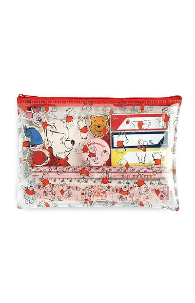 Winnie The Pooh Clear Pencil Case And Stationery Set