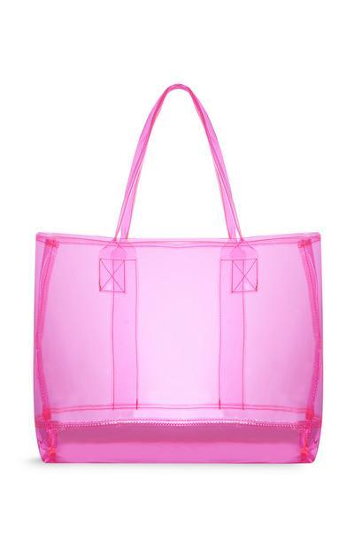 Pink Transparent Shopper