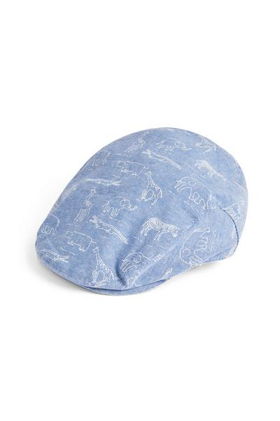 Baby Boy Blue Safari Flat Cap Hat