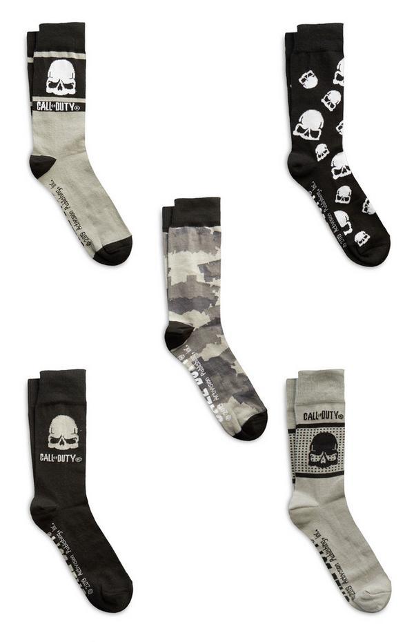 "Schwarze ""Call Of Duty"" Socken, 5er-Pack"