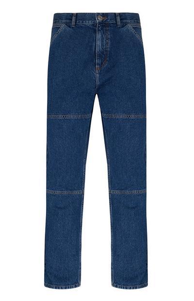Blaue Carpenter-Jeans mit Ziernaht