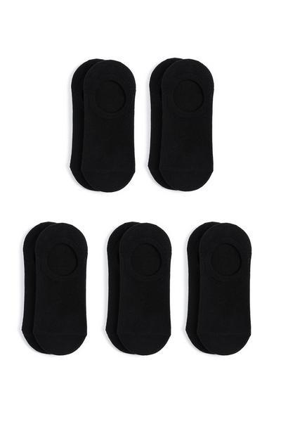 Zwarte onzichtbare sokken, 5 paar