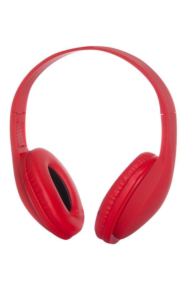 Kabellose, rote Kopfhörer