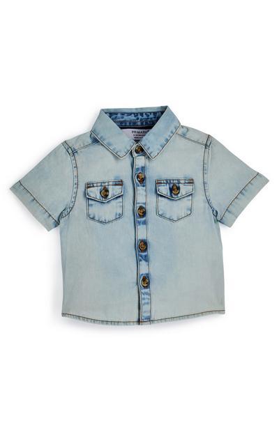 Gebleekt babyspijkeroverhemd voor jongens