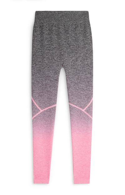 Rosafarbene Trainingsleggings im Ombré-Look (Teeny Girls)