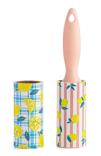 Fusselrolle mit Zitronen-Print, 2er-Pack