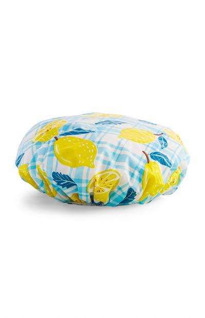 Lemon Print Shower Cap