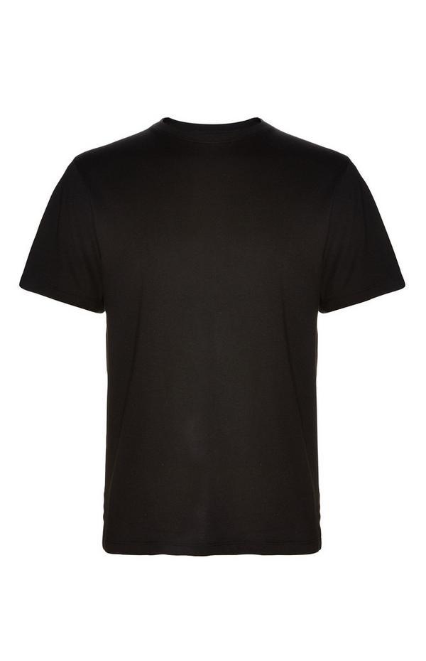 T-shirt noir ras du cou
