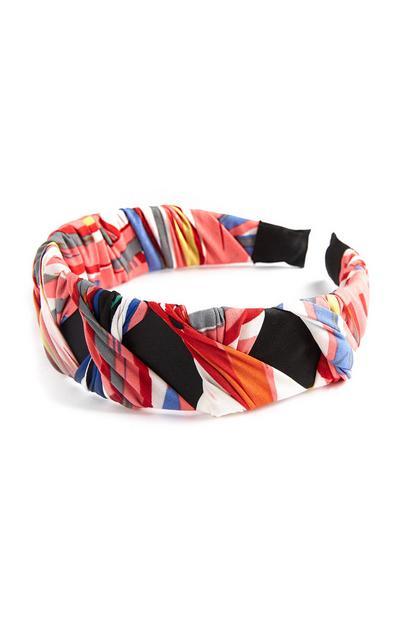 Meerkleurige gedraaide haarband