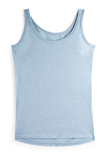 Blauw wijdvallend hemdje