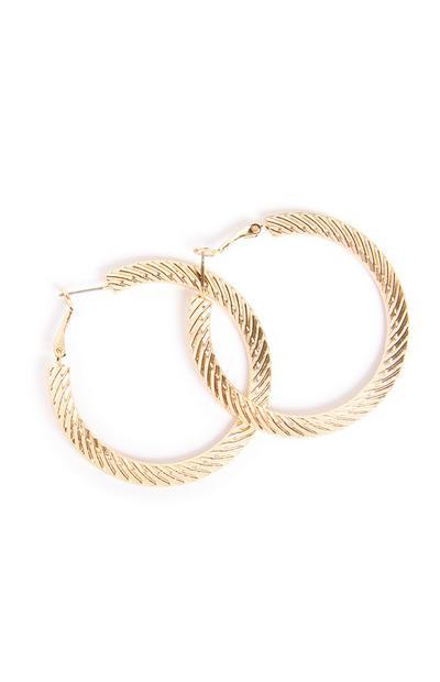 Flat Textured Hoop Earrings