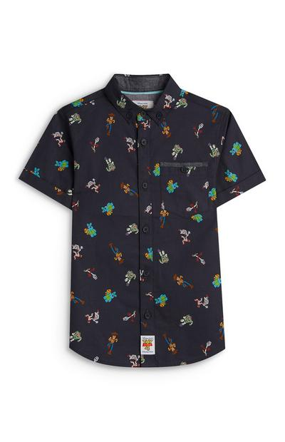Younger Boy Navy Toy Story Shirt