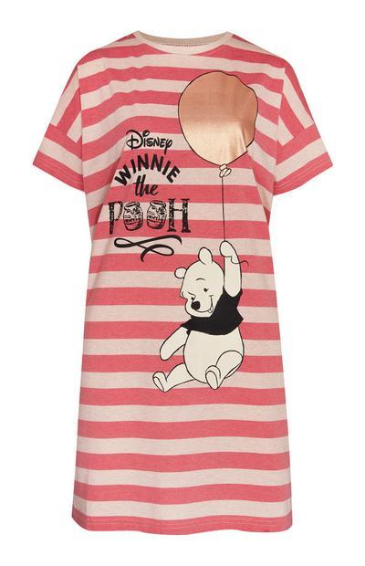 Pink Striped Winnie The Pooh Sleep Tee