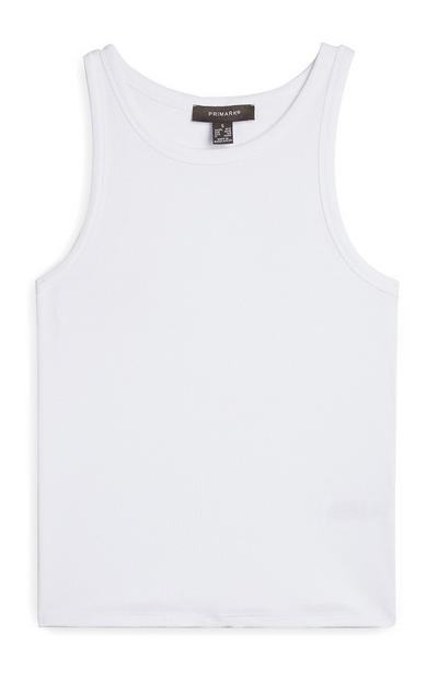 White High Neck Tank