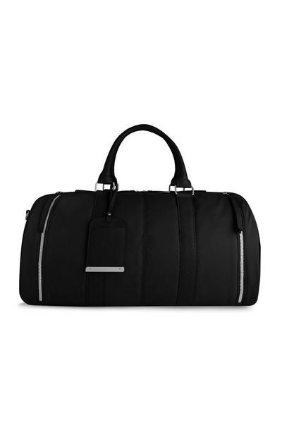 Schwarze Nylon-Reisetasche