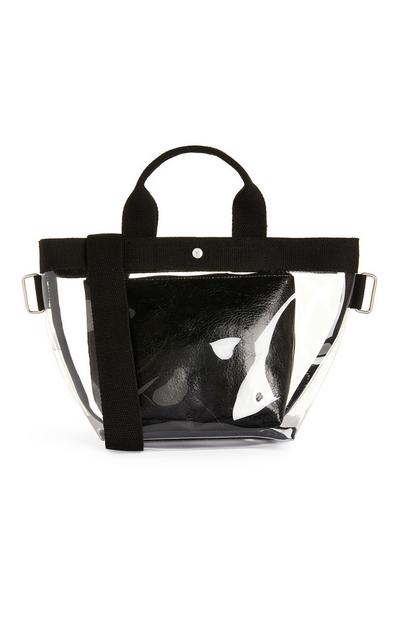 Black Clear Tote