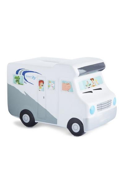 White Pixar Campervan Money Bank