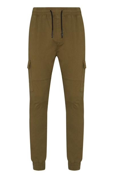 Olive Utility Cuffed Cargo Joggers