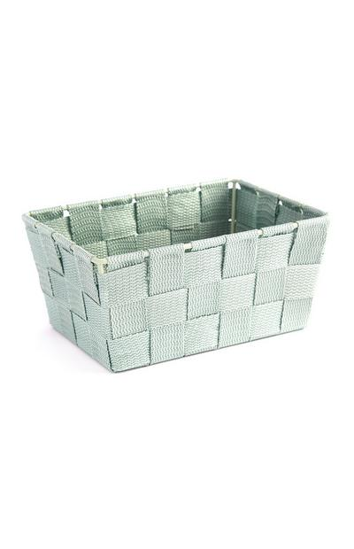Robin's Egg Blue Small Wicker Storage Box