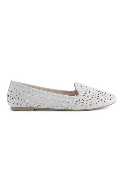 Gray Laser Cut Loafers