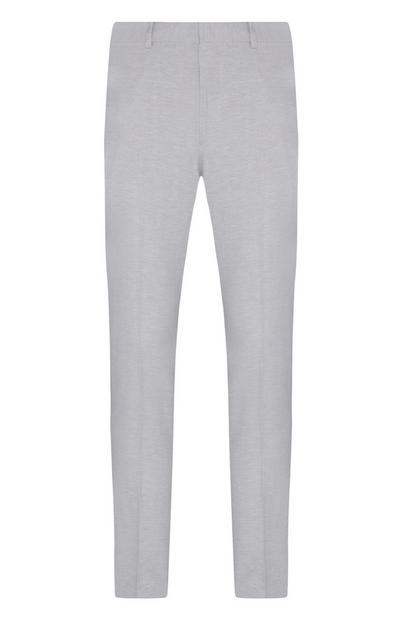 Stone Linen Mix Co Ord Smart Trousers
