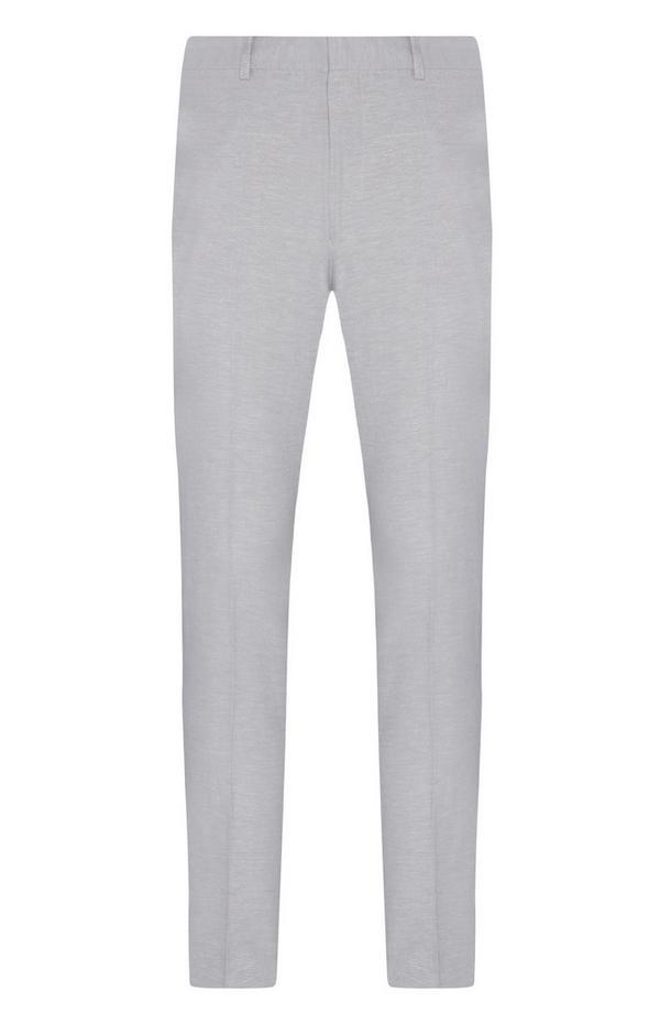 Pantalon habillé grège en lin à coordonner
