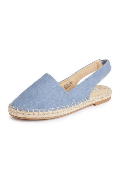 Blue Close Toe Espadrilles