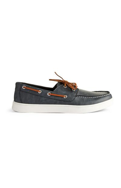 Charcoal Lace Up Boat Shoes