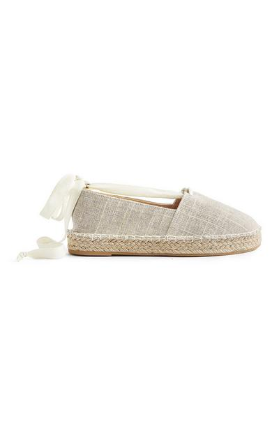 Natural Ankle Tie Espadrilles