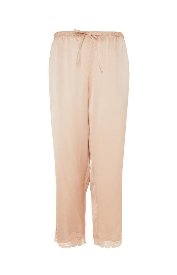 Blush Satin Pyjama Leggings