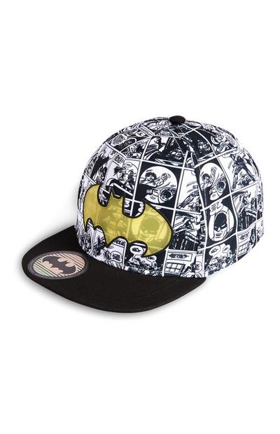Black Graphic Batman Comic Baseball Cap