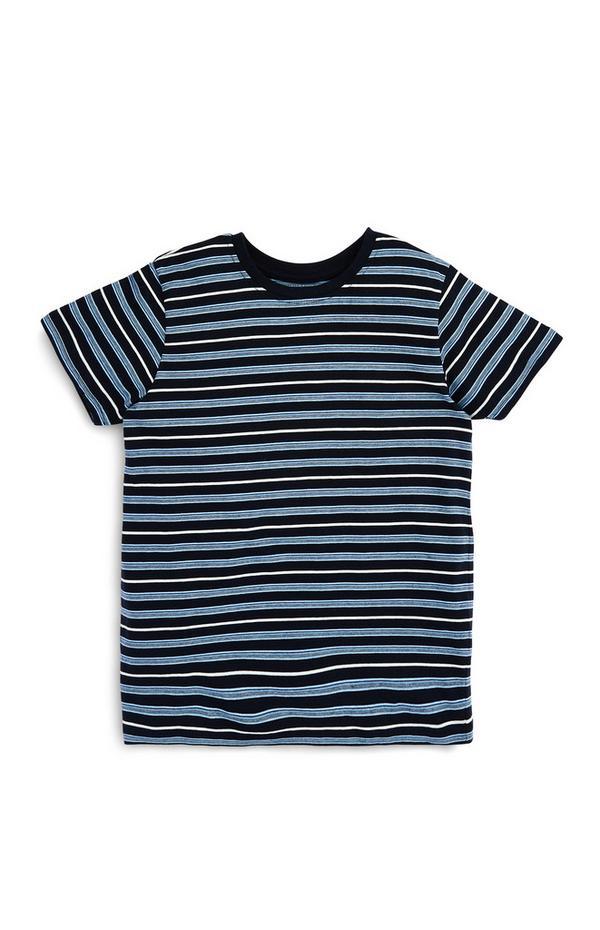 Blau gestreiftes T-Shirt (Teeny Boys)