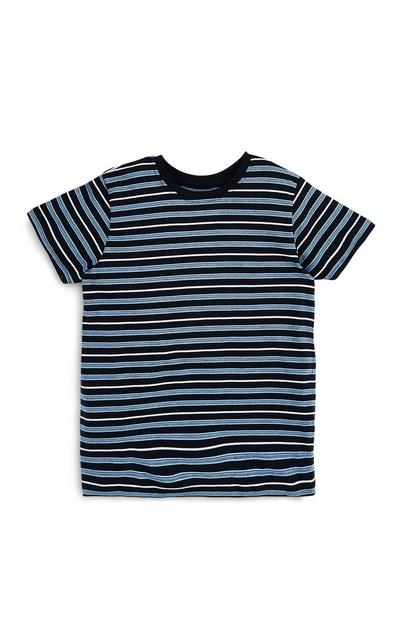Older Boys Blue Stripe T-Shirt