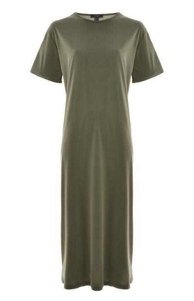 Green Jersey Midi T-Shirt Dress