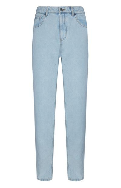 Light Blue Slim Mom Jeans
