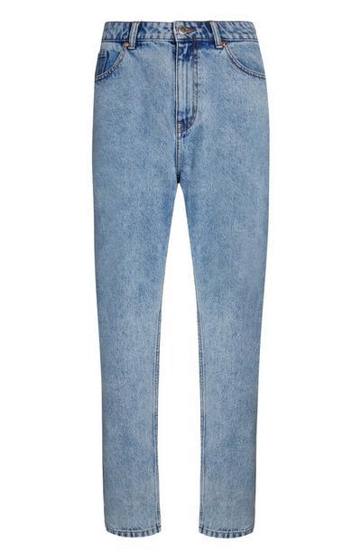 Mid Blue Slim Mom Jeans