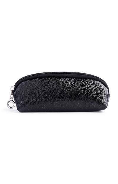 Bolsa maquilhagem esguia brilhos preto
