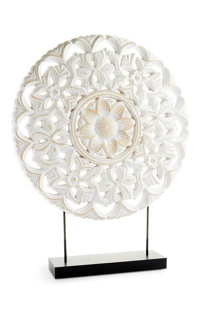 White Large Ornate Stranding Ornament