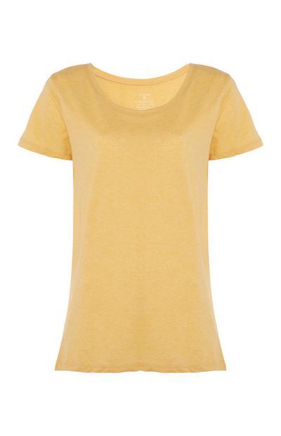 Yellow Crew Neck T-Shirt