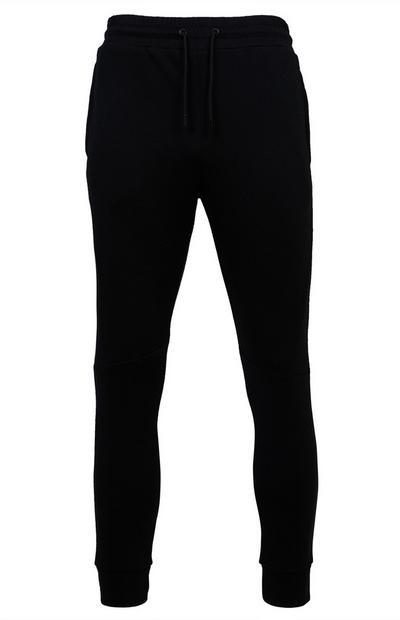 Schwarze Jogginghose mit Bündchen