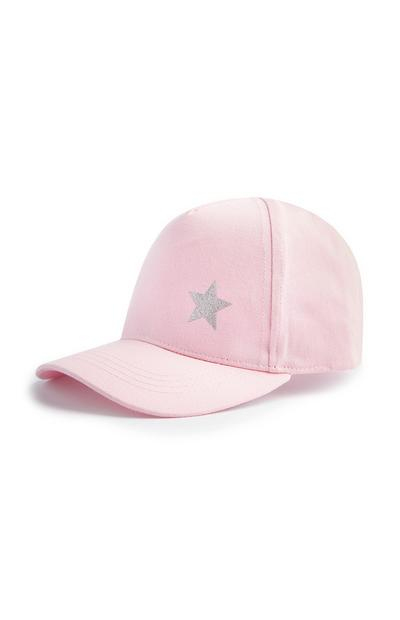 Older Girl Pink Star Icon Cap