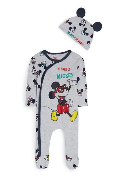 Babygrow chapéu Mickey Mouse menino bebé