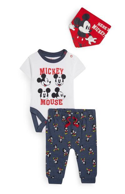 3-Piece Baby Boy Navy Mickey Mouse Set