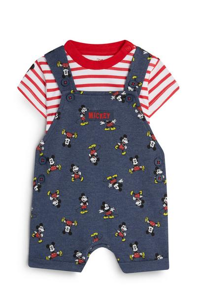Baby Boy Mickey Mouse Playsuit And Top
