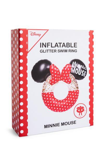 """Aufblasbarer """"Minnie Maus"""" Glitzer-Schwimmring"""