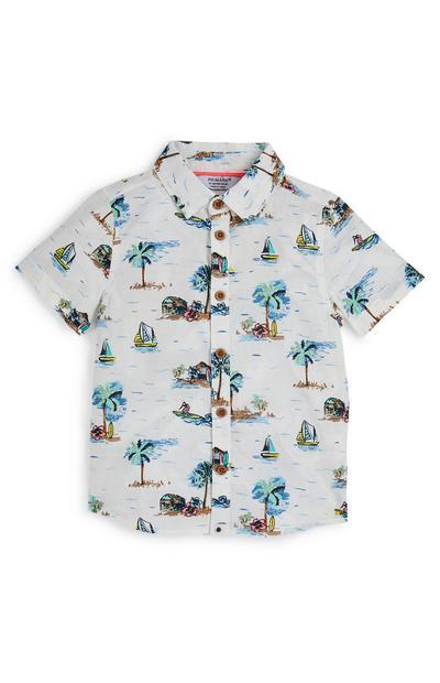 Baby Boy Gray Beach Party T-Shirt
