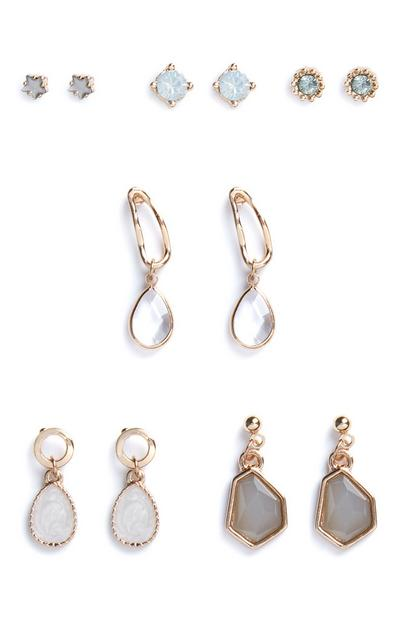 6-Pack Pastel Stud And Drop Earrings