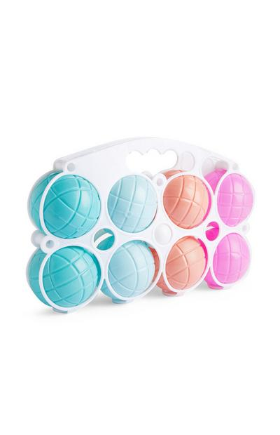 Pastel Plastic Boules Game Set