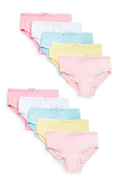 10-Pack Girls' Multi Briefs